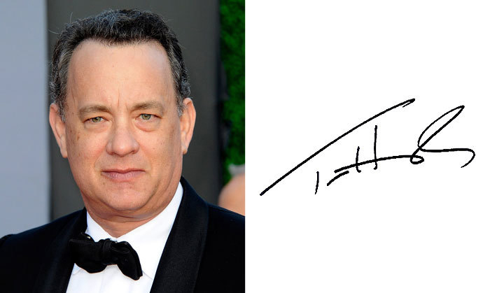 Том Хэнкс и его подпись