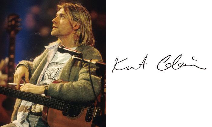 Курт Кобейн и его подпись