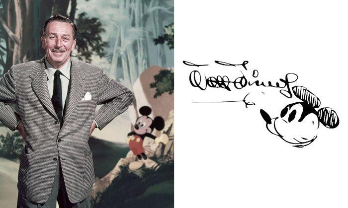 Уолт Дисней и его подпись