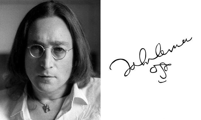 Джон Леннон и его подпись