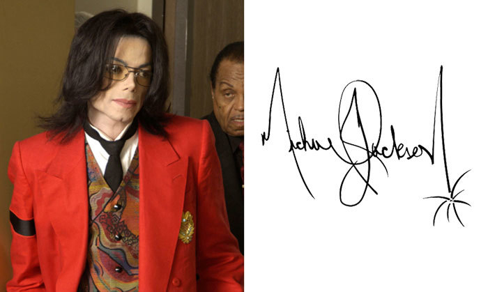 Майкл Джексон и его подпись