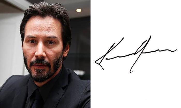 Киану Ривз и его подпись