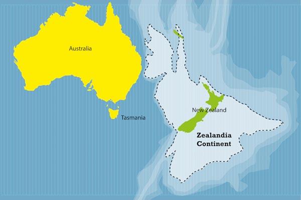 Зеландия — новый континент, скрытый в водах Тихого океана