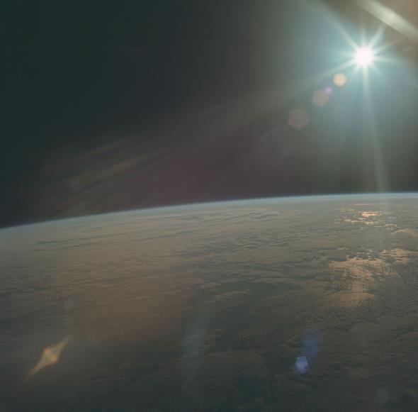Фотография Земли, сделанная экипажем Аполлона-11, 1969 год