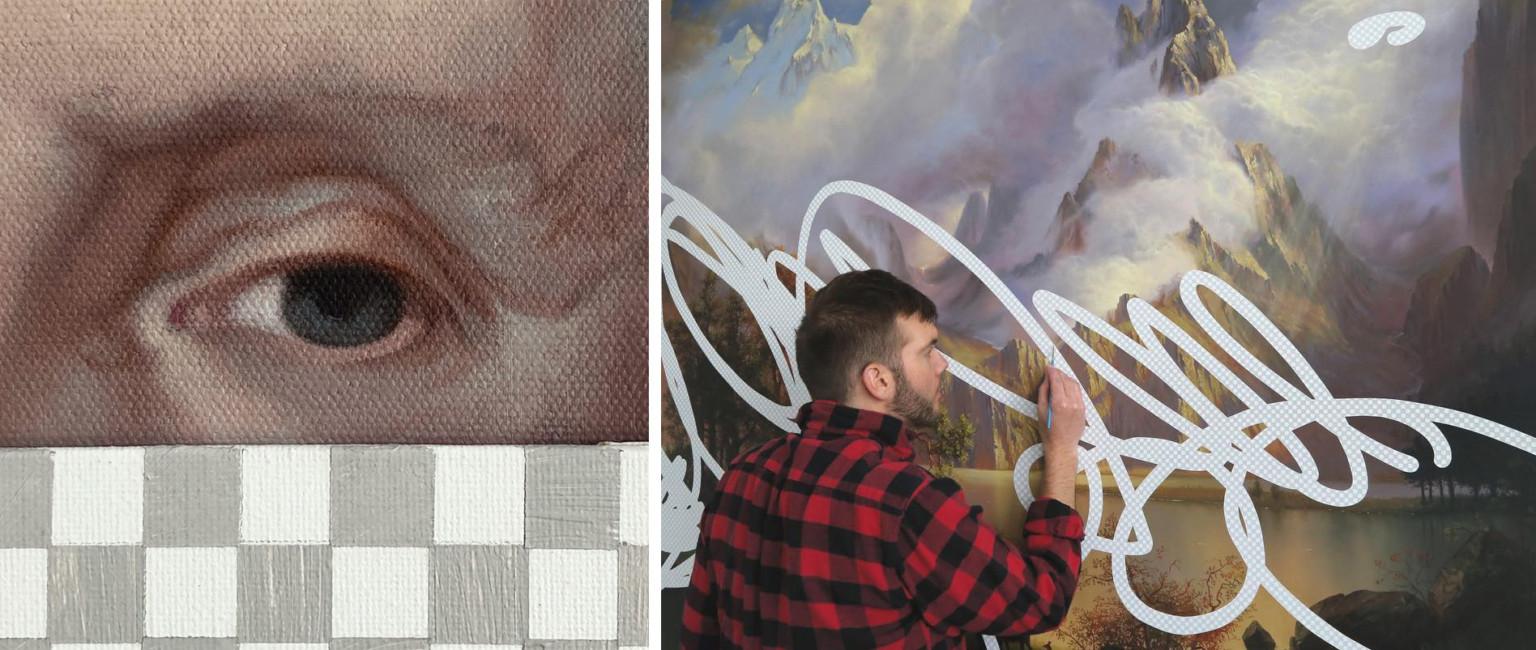 Концептуальные картины акрилом, имитирующие Photoshop