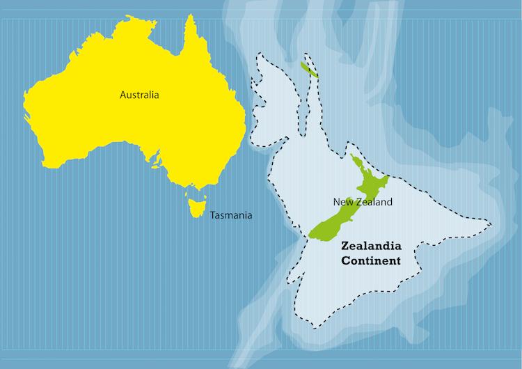 Зеландия - новый континент, скрытый в водах Тихого окена