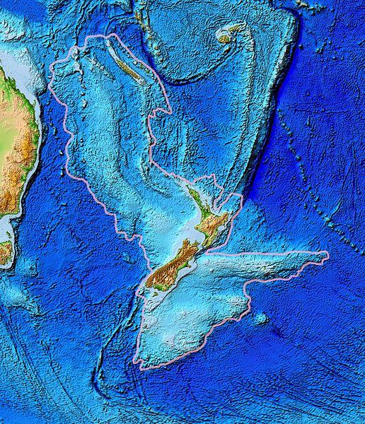 Топографическая карта Зеландии