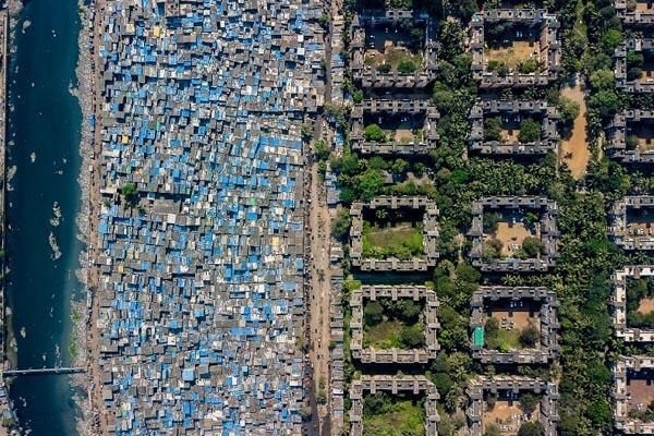 Аэрофотографии, раскрывающие социальное неравенство в разных странах
