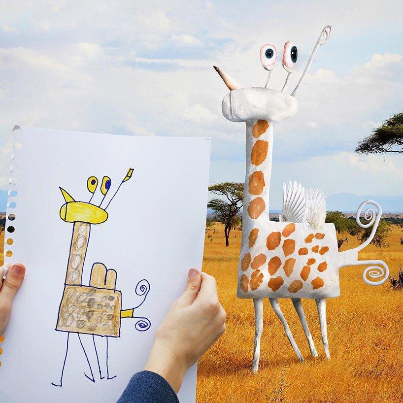 Как бы выглядел мир, если бы детские рисунки стали реальными?