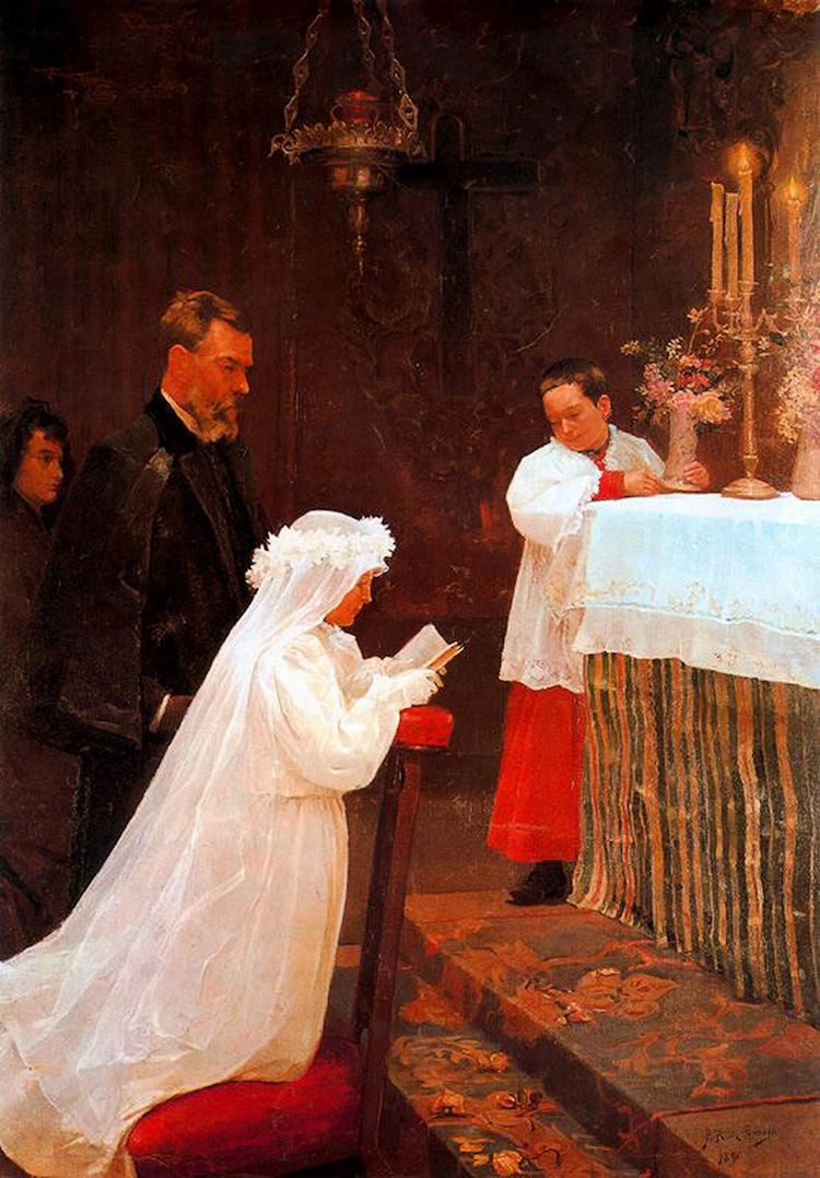 «Первое причастие», 1896 год