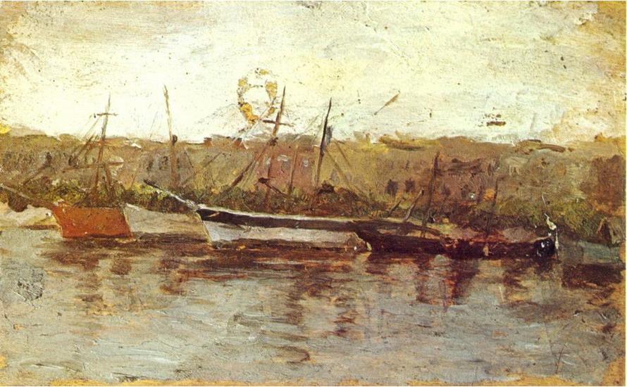 «Аликанте, вид на корабли», 1895 год