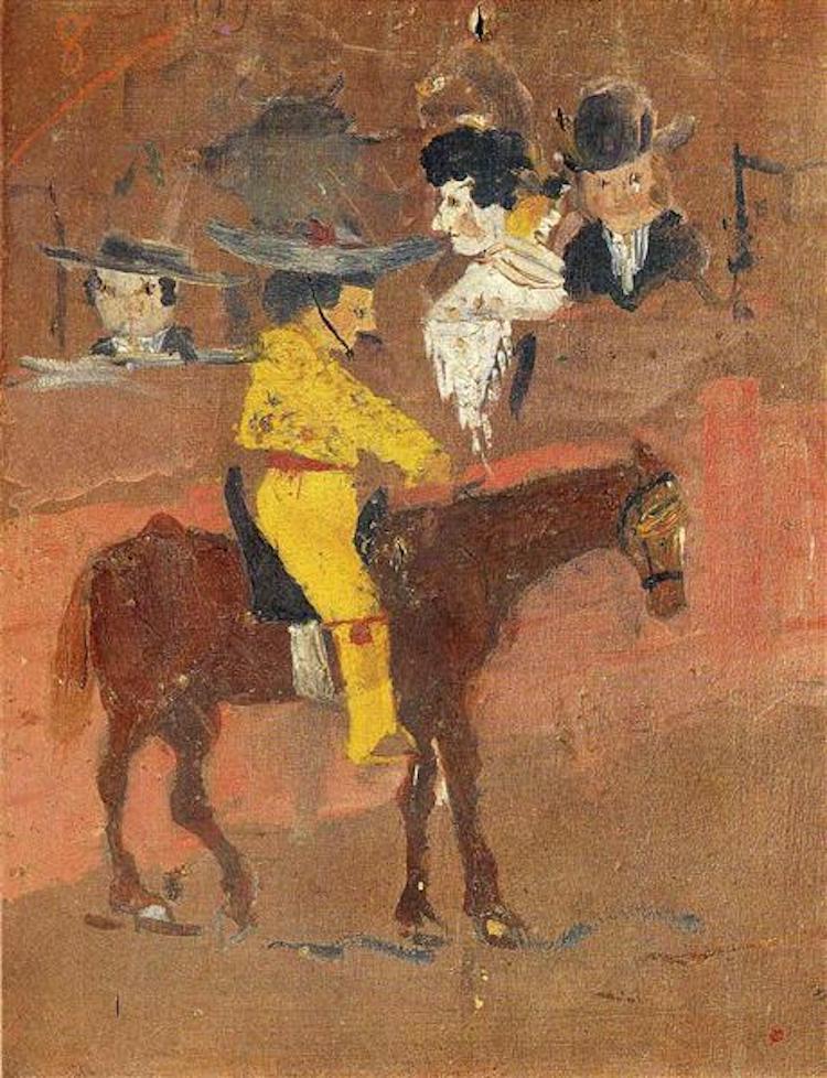«Пикадор», 1890 год. Первая картина Пикассо, написанная в 8-летнем возрасте