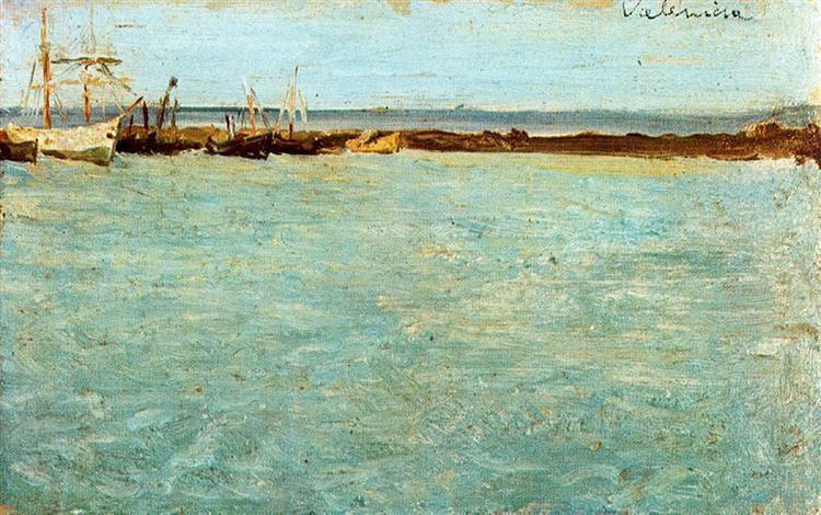 «Вид на порт Валенсии», 1895 год