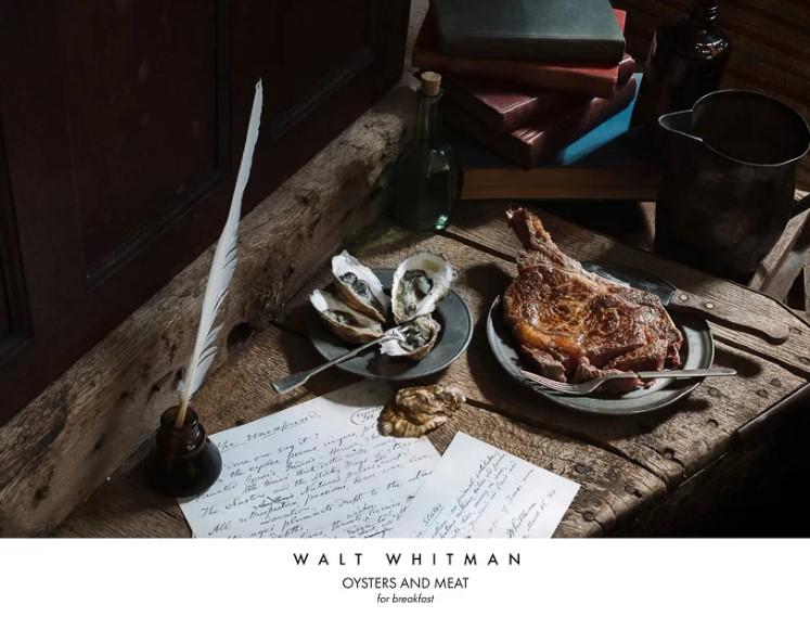 Поэт Уолт Уитмен. Устрицы и мясо