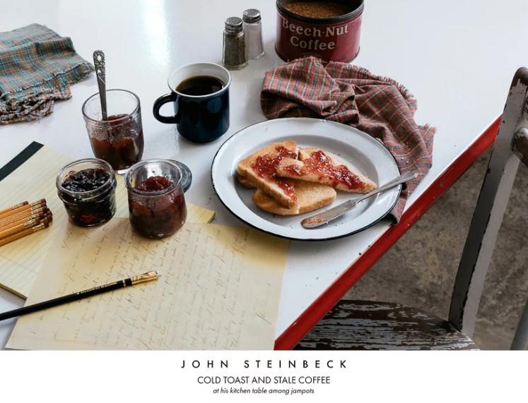Писатель Джон Стейнбек. Тосты и кофе