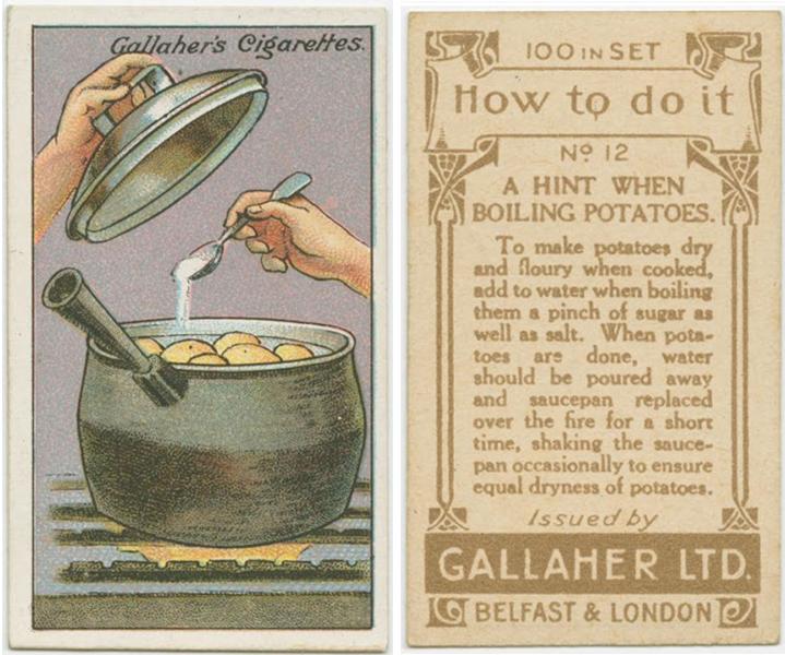 Подсказка при варке картофеля