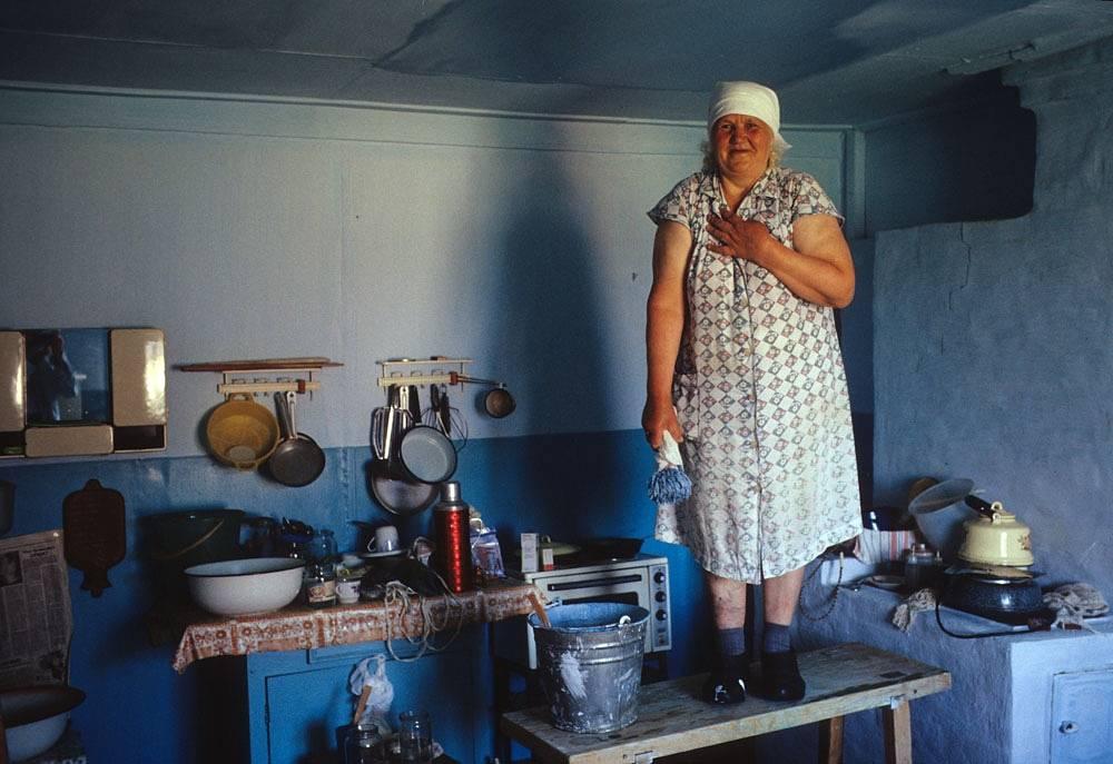 Костино. 1399 километров от Красноярска по Енисею. 1993 год