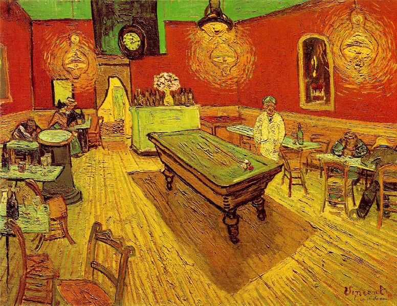 «Ночное кафе»,1888 год