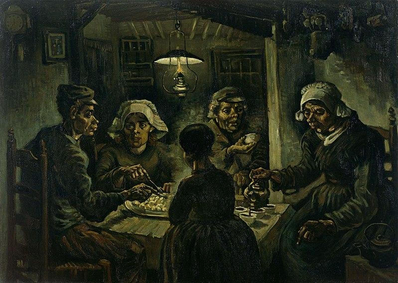 «Едоки картофеля», 1885 год