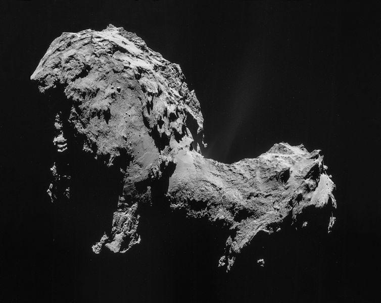 Комета 67P/Чурюмова — Герасименко, снятая зондом «Розетта»