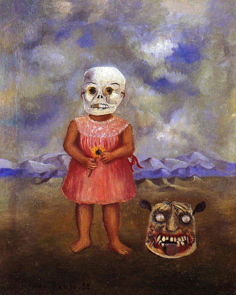 «Девочка с маской смерти (Она играется сама)»