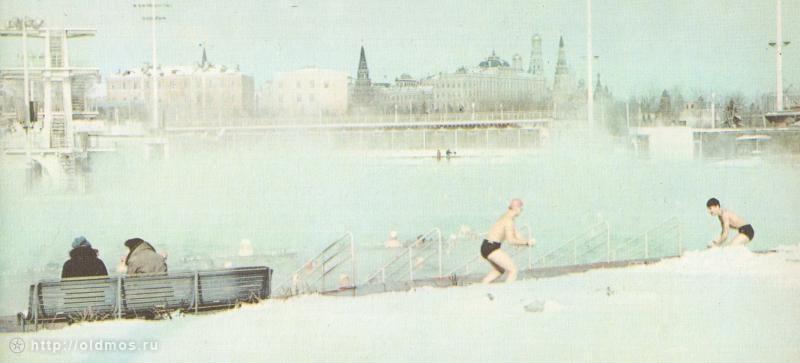 использование бассейна при температуре ниже −20° не допускалось — плотный густой пар над поверхностью воды затруднял наблюдение за пловцами и работу спасателей