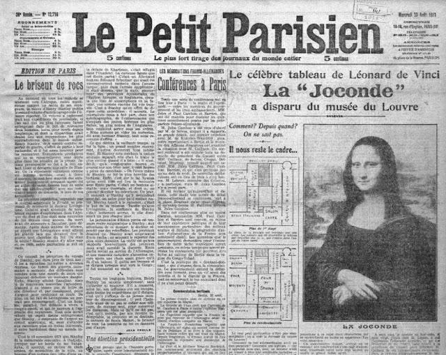 Один из газетных заголовков «Мона Лиза найдена»