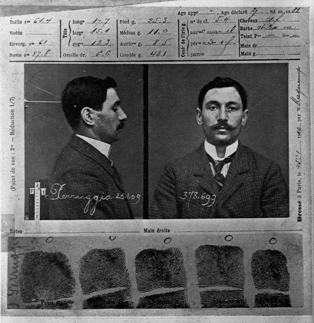 Винченцо Перуджа. Лист из уголовного дела