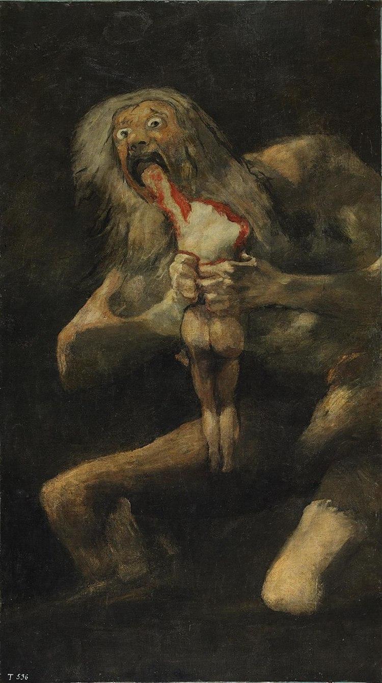 «Сатурн, пожирающий своего сына», Франсиско Гойя