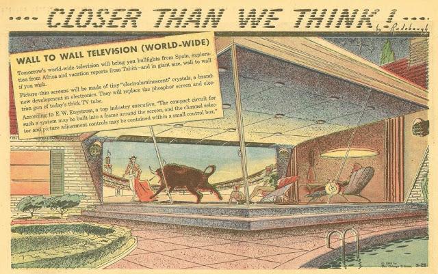 Большой телевизор «от стены до стены»