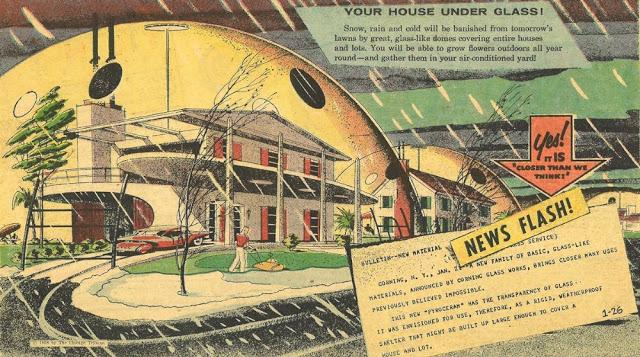 Дома под куполом с защитой от непогоды