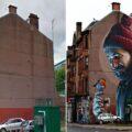 Сила искусства в фотографиях уличных стен до и после