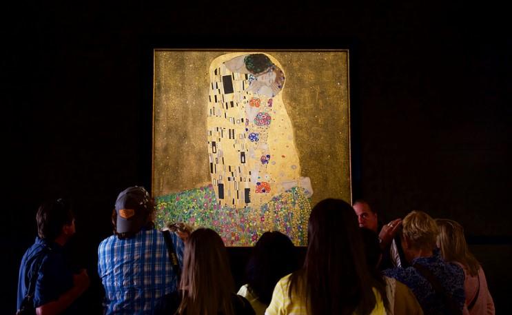 «Поцелуй» Густав Климт: галерея Бельведер, Вена (Австрия)