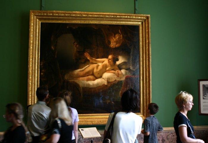 «Даная» Рембрандт Харменс ван Рейн: Эрмитаж, Санкт-Петербург