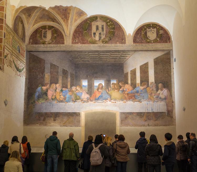 «Тайная вечеря» Леонардо да Винчи: Санта-Мария-делле-Грацие, Милан (Италия)