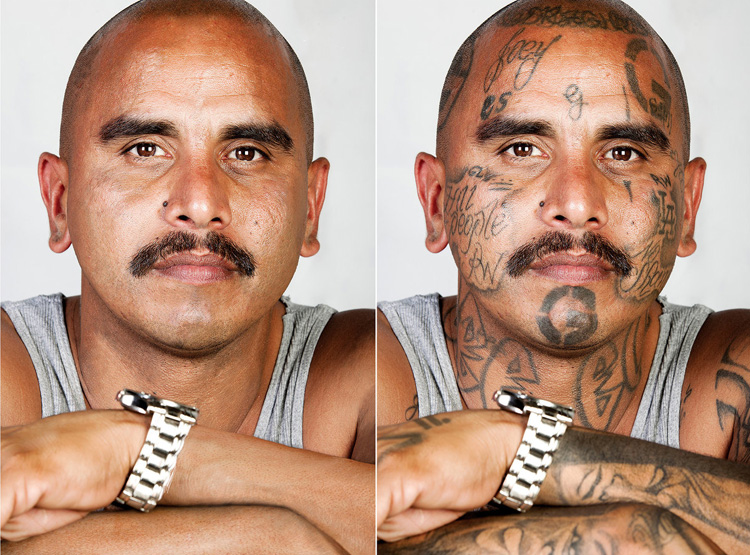 Как бы выглядели бывшие члены банд без татуировок