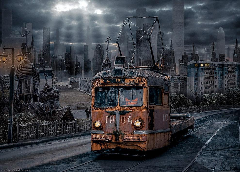 Художник из Самары превращает брутальные пейзажи России в параллельные миры
