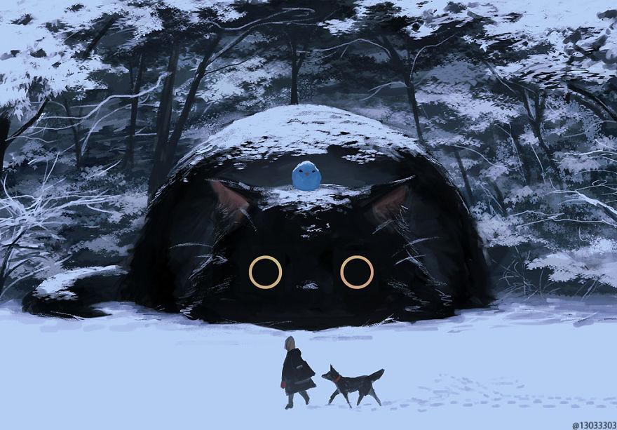 Художник представил, как бы выглядел мир среди гигантских животных