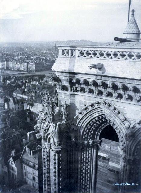 Старинные фотографии собора Парижской Богоматери в XIX веке