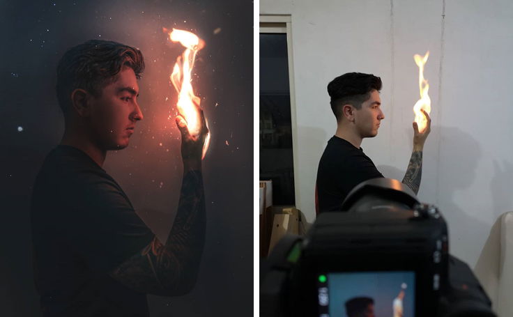 Фотограф показал, что происходит за кадром волшебных фотографий в Instagram