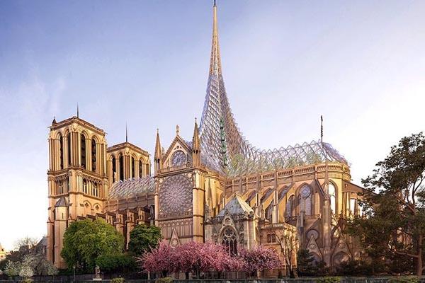 Нотр-Дам: 7 необычных проектов, предложенных для реставрации собора