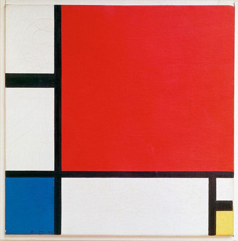 «Композиция с красным, синим и жёлтым», 1930 год
