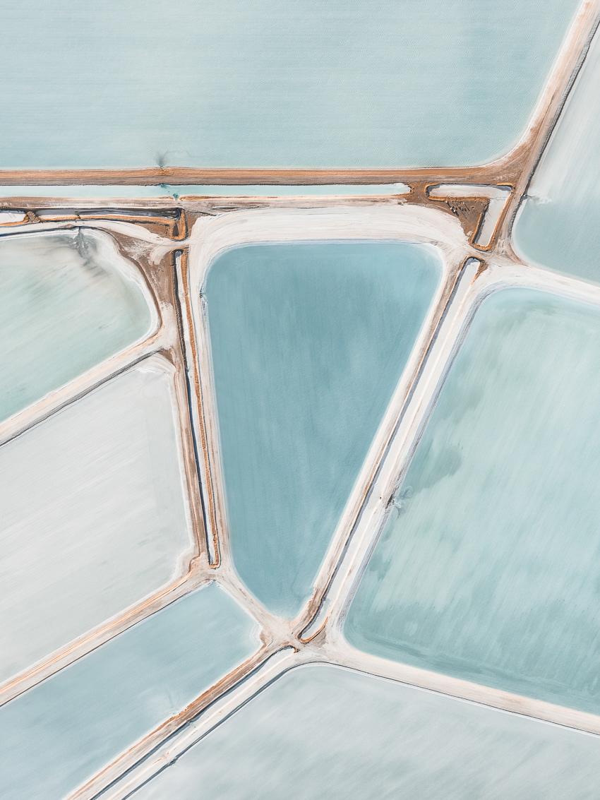 Абстрактная красота месторождений соли в аэрофотографиях Тома Хегена