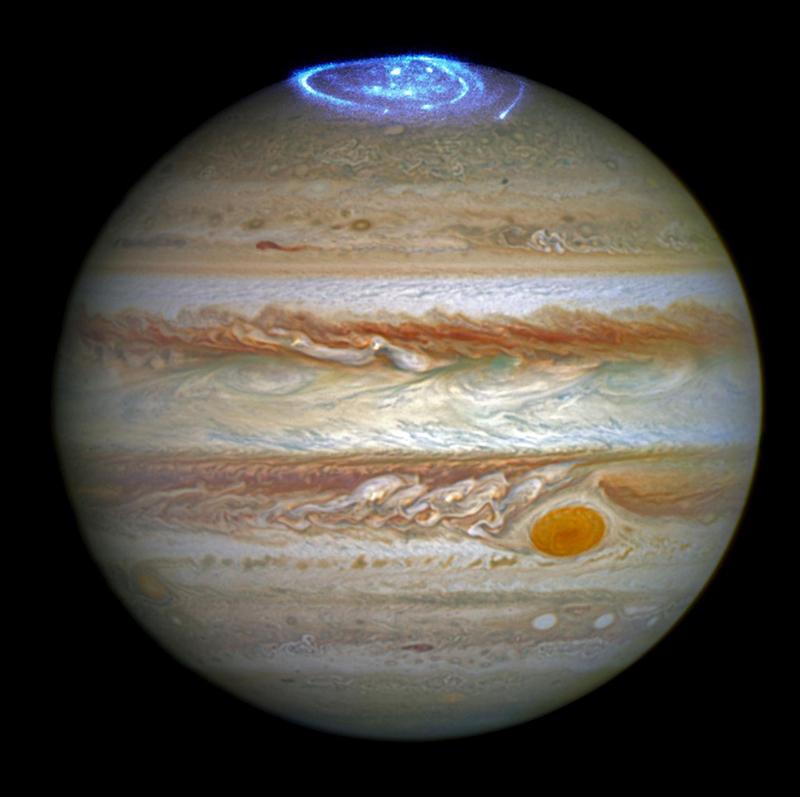 Полярное сияние на Юпитере