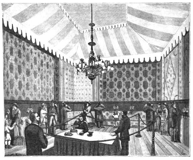 Комната для прослушивания на Парижской выставке 1881 года
