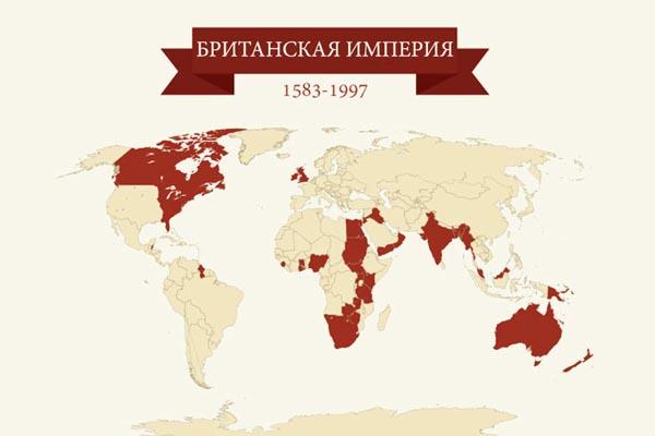 Карты четырёх крупнейших империй в мировой истории