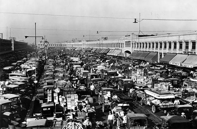 Рынок в Лос-Анджелесе, 1927 год