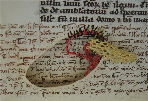 Необычное искусство ремонта рукописей в Средневековье