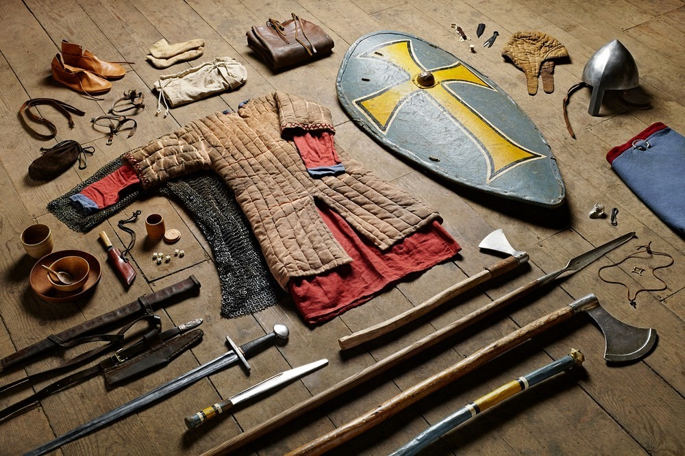 Военный комплект английского воина в битве при Гастингсе, 1066 год