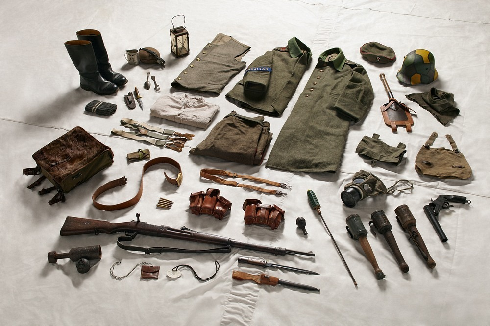Амуниция немецкого солдата в битве на Сомме, 1916 год